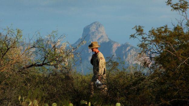 La Nación Tohono O'odham en el sur de Arizona y el norte de Sonora, dentro del Desierto de Altar.