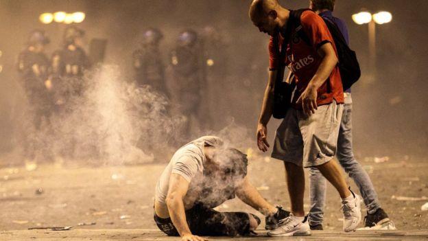 شهدت احتفالات في بعض المدن الفرنسية أعمال عنف
