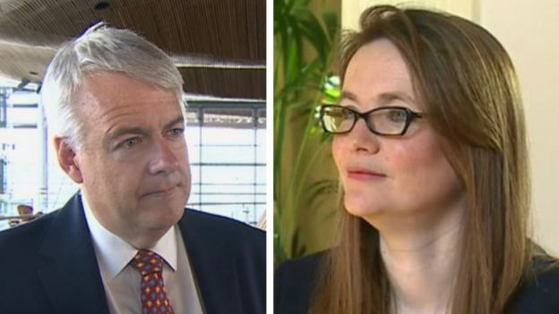 Carwyn Jones and Kirsty Williams