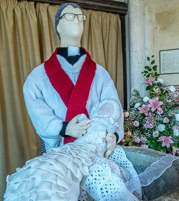 Royal christening in wool