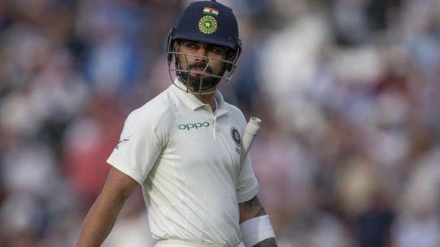 Kohli during a test cricket match