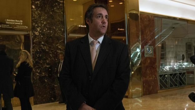 Michael Cohen, Donald Trump's personal lawyer, speaks in Trump Tower.