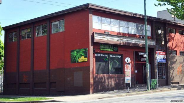 Tienda de marihuana medicinal en Canadá.