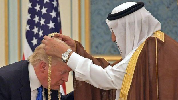 Donald Trump y el rey Salman