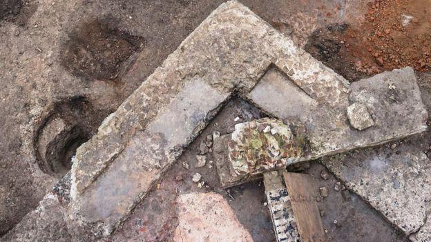 Ruínas de prédio romano em Colônia - Alemanha