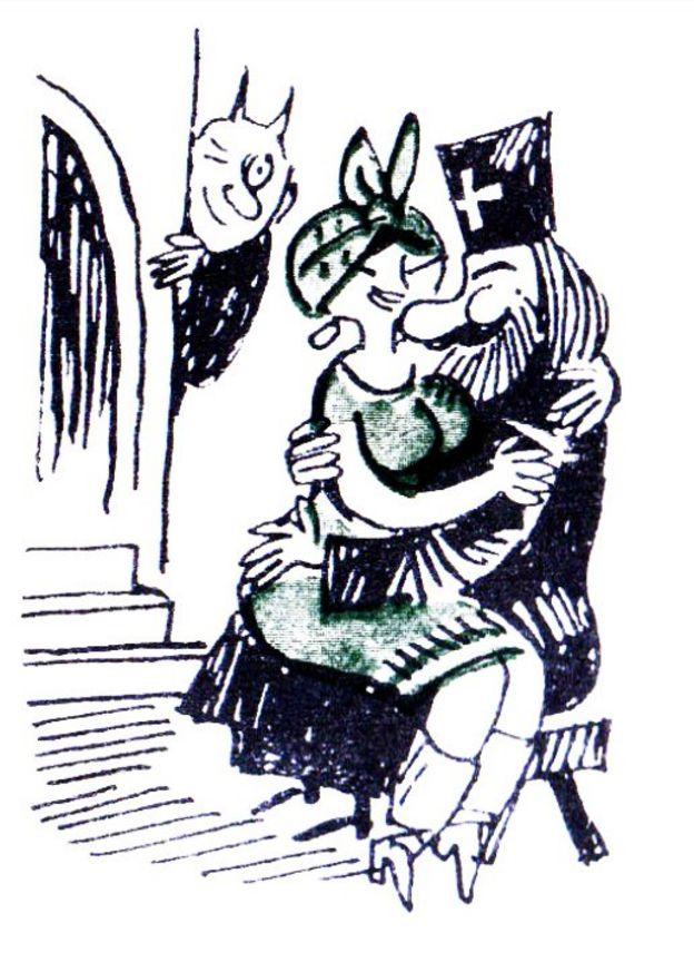 Карикатура на священника