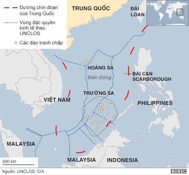 TQ tuyên bố chủ quyền theo đường 9 đoạn ở Biển Đông