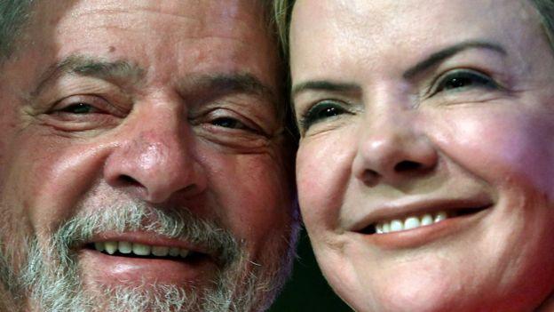 Lula e Gleisi Hoffmann lado a lado