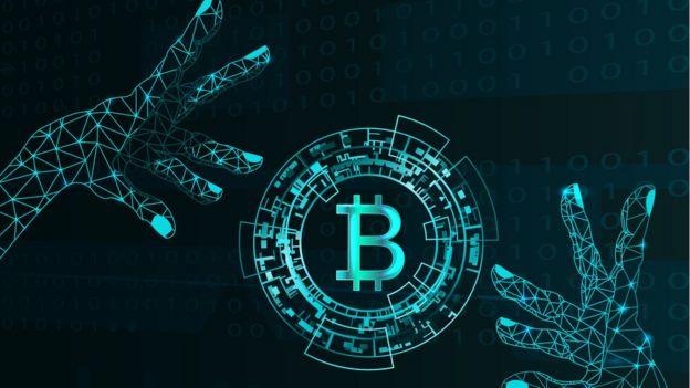 Ilustración de Bitcoin.