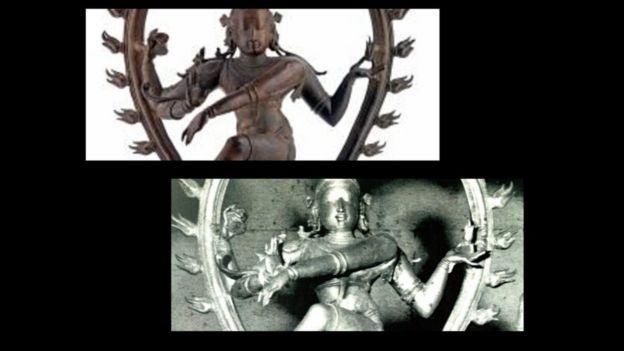 கல்லிடைக்குறிச்சியிலிருந்து திருடப்பட்டு, மீட்கப்பட்ட நடராஜர் சிலையின் பல்வேறு தோற்றங்கள்