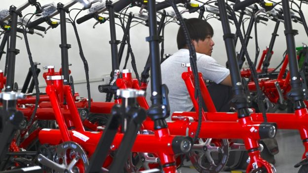 A bike factory in China