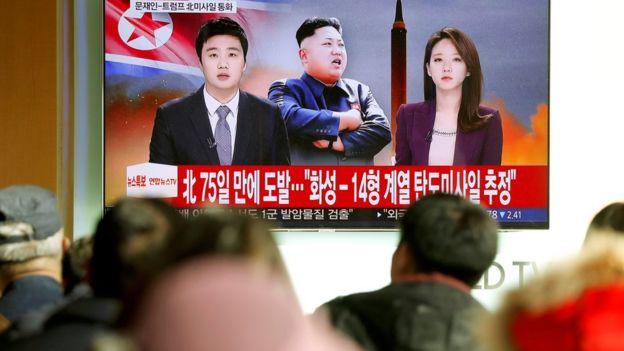 Prueba de misiles Corea del norte