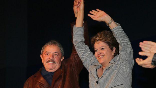 Lula com Dilma em 2013