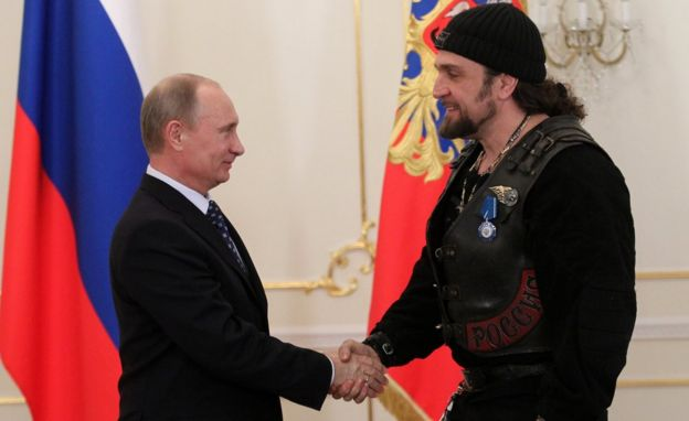 President Putin with Alexander Zaldostanov, 14 Mar 13