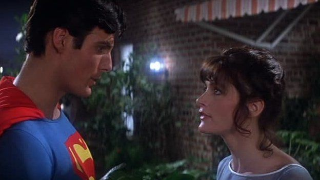 Christopher Reeve y Margot Kidder en Superman I