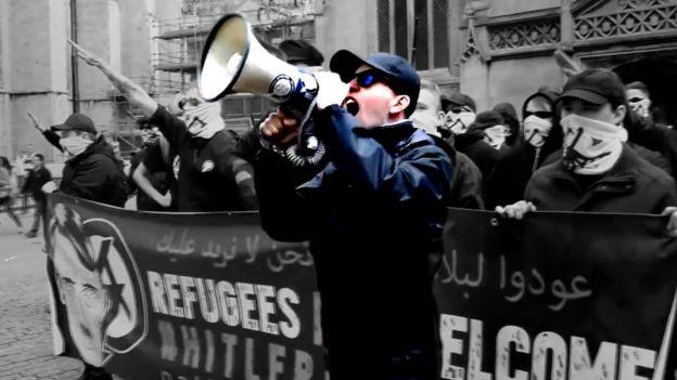 Alex Davies, um dos fundadores do grupo neonazista National Action