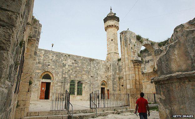 Ottoman-era mosque in Sebastia, near Nablus on the West Bank