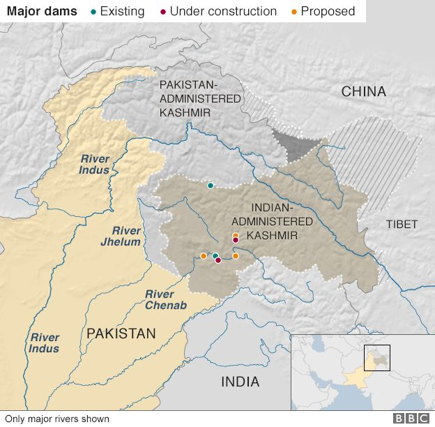 Are India and stan set for water wars? - BBC News on taurus on a map, nevis on a map, yangtze on a map, yellow river on a map, olds on a map, sulaiman mountains on a map, orinoco on a map, karnali river on a map, shang on a map, nu river on a map, harrapa on a map, drumheller on a map, sutlej river on a map, chao phraya on a map, irtysh on a map, libra on a map, vindhya range on a map, dnieper on a map, high river on a map, milo on a map,