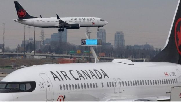 Two Air Canada 737 Max aircraft