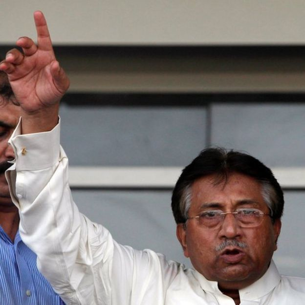 Musharraf addresses his supporters in 2013 after returning from Dubai
