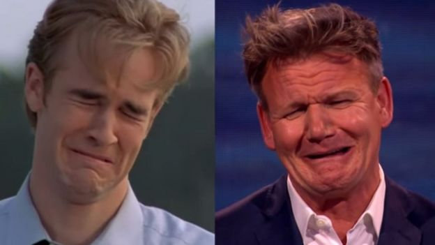 James van der beek om dawsons crying face