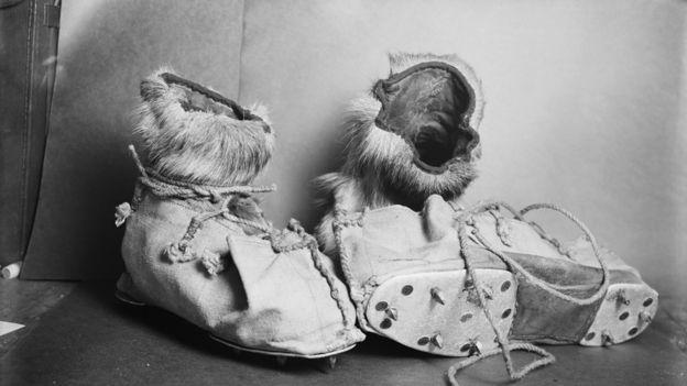 Botas con piel y crampones