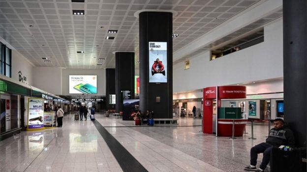 Aeropuerto en Italia