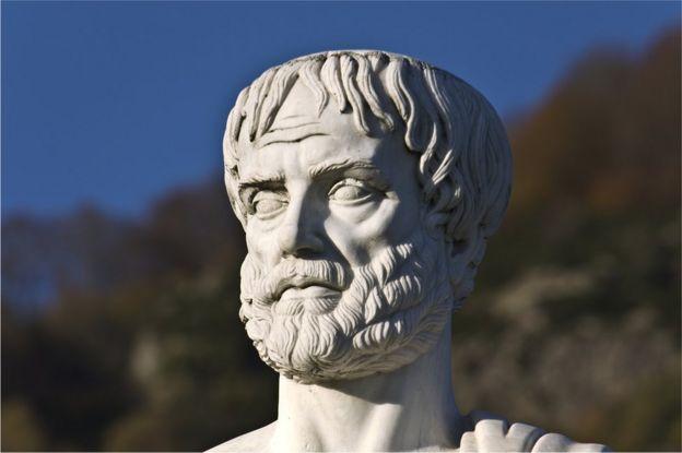 Estatua de Aristóteles en Estagira, su lugar de nacimiento en Grecia.
