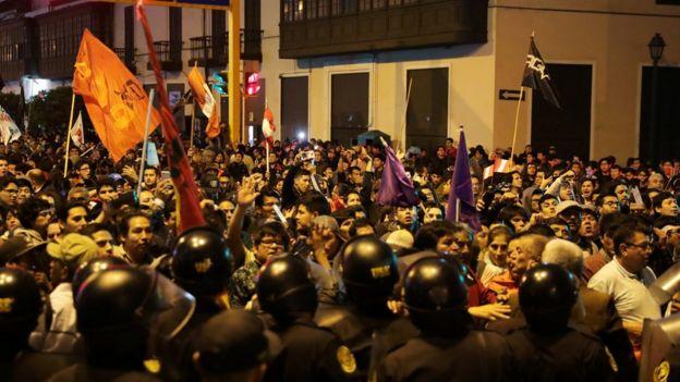 Manifestacion en Lima