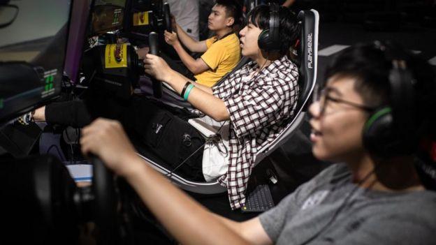 Jugadores juegan en China.