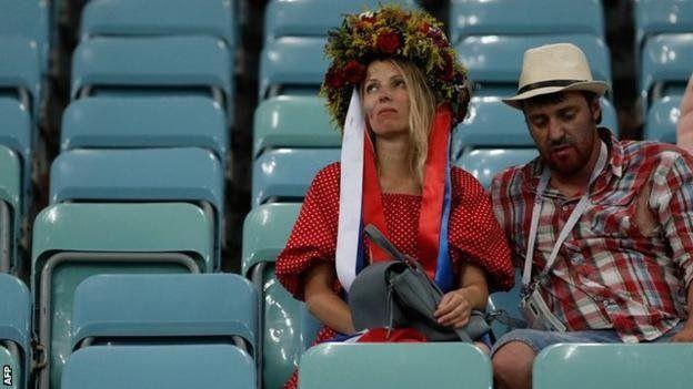 Pendukung Rusia di stadion