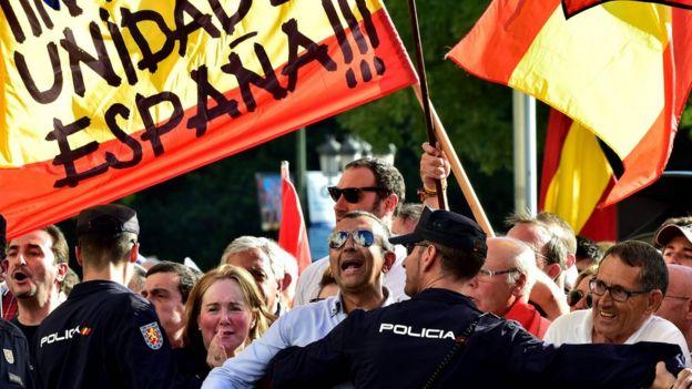 Protesta por la unidad de España