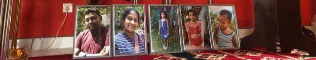 Family photos Easter Sunday bombings