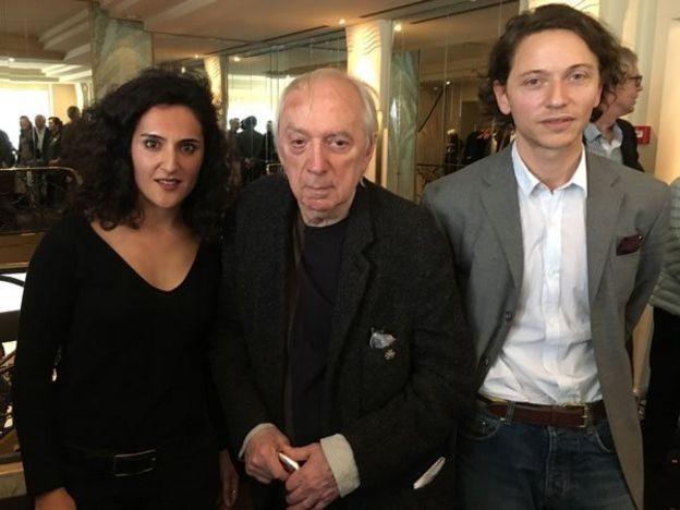 از چپ: مریم مجیدی، فرانک ونایه و رافائل آروشه