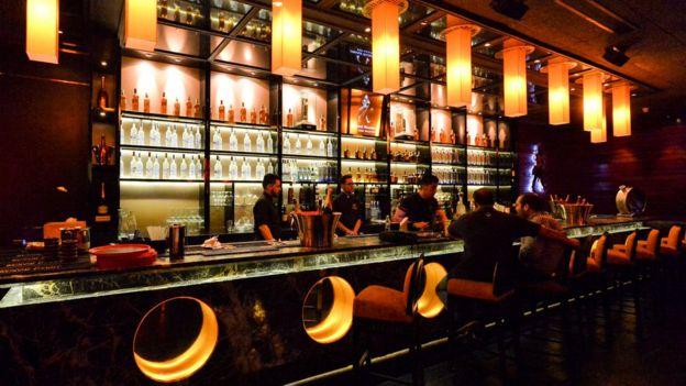 Barra de bar.