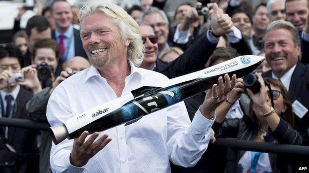 LauncherOne and Richard Branson