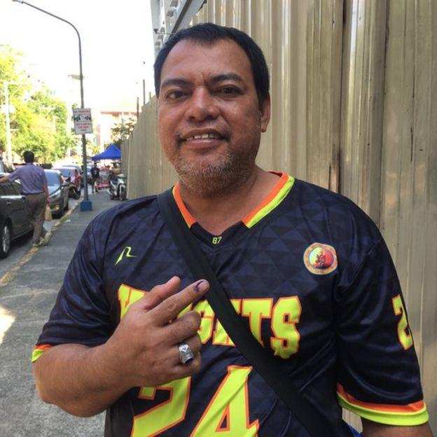 保全Quintin Arciba(昆廷.阿爾西巴)表示支持杜特爾特總統。