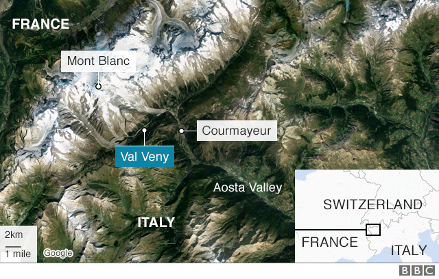 Road Map Of France And Italy.Italy Avalanche Kills British And French Skiers Bbc News
