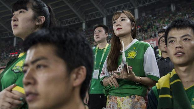 Pekin Guoan futbol klübü taraftarları