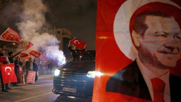 Erdogan supporters were jubilant in Istanbul