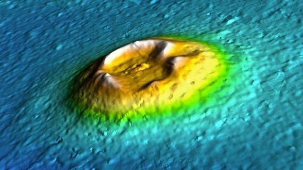 Illustrazione di un cono di un'isola su Marte.  (Foto: NASA / JPL / U. Arizona)