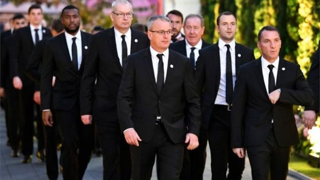 Brendan Rodgers Leicester City Vichai cremation
