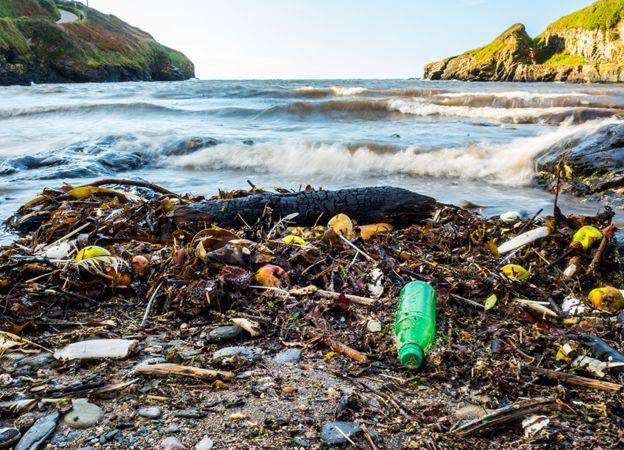 Beach plastic