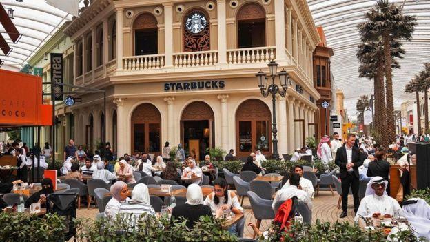 مقهى ستاربكس في مدينة الكويت