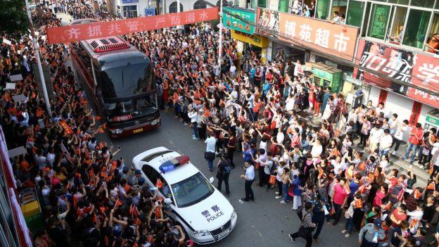 中国各地的学生都十分重视每年的高考。