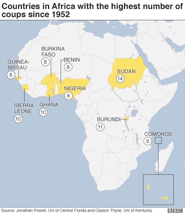 Gabon World Map.Gabon Coup Is Africa Seeing Fewer Military Takeover Attempts Bbc
