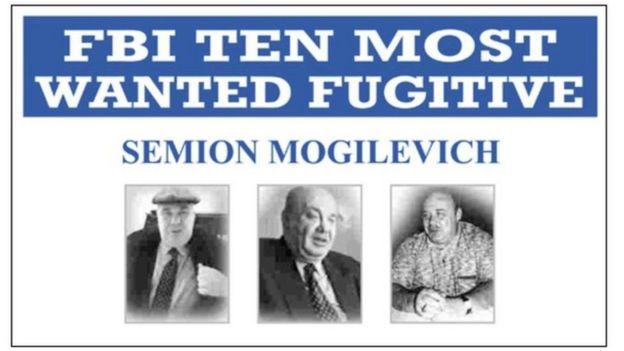 Cartel del FBI sobre Semión Mogilevich