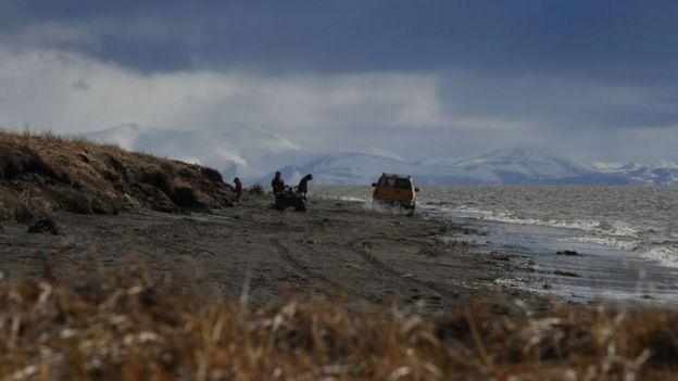 Derretimiento del permafrost en el Ártico