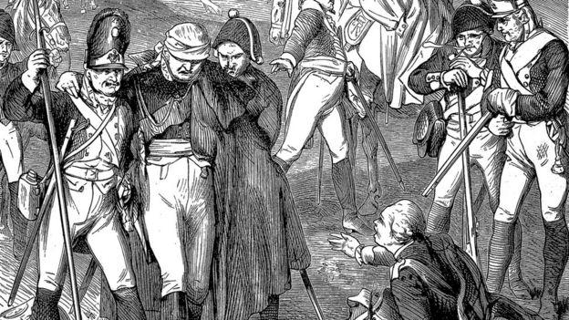 Escena del duque herido en la batalla