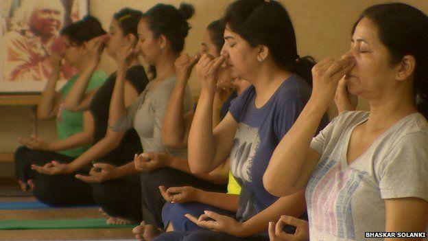 Yoga at Sivananda Yoga ashram in Delhi